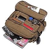 Outreo Canvas Umhängetasche Herren Vintage Messenger Bag Schultertasche Herrentaschen Kuriertasche Uni Schule Taschen für Buch Tablet Sport Segeltuchtaschen Retro sporttasche