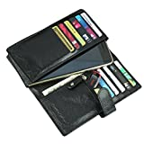 Style98 Unisex 5.5-Inch Leather Small Wallet(Black)