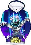 OLIPHEE Unisex Kapuzenpullover mit 3D Fortnite Motiv Herren Hoodie Leviathan M