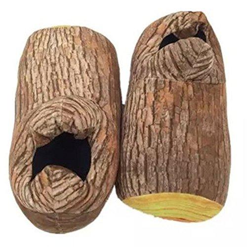 spritech (TM) New Bear Paw Hausschuhe Warm Soft Adorable Hausschuhe tiere Cartoon Slipper für Zuhause Geschenk, Tree Trunk Pattern, Einheitsgröße (Haken Bag Garment)