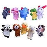 Beyond Dreams 10 Fingerpuppen Set für Kinder | Velvet Tiere Handpuppen | Niedliches Spielzeug Fingertiere | Rollenspiele | Kreative Spiele für Kinder | Mitbringsel Mitgebsel Geschenk Kindergeburtstag