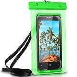 ONEFLOW Wasserdichte Hülle für Nokia | Full Cover in Grün 360° Unterwasser-Gehäuse Touch Schutzhülle Water-Proof Handy-Hülle für Nokia 3310 Asha 300 8110 4G 230 105 UVM Case Handy-Schutz