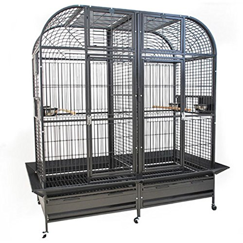 Montana Cages  | Papageienkäfig XXL Palace, Voliere, Zimmervoliere, mit Trennwand in dunkel