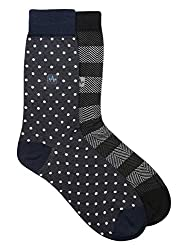 Arrow Mens Perfume Calf Length Soft Combed Cotton Socks Pack of 2 Pair