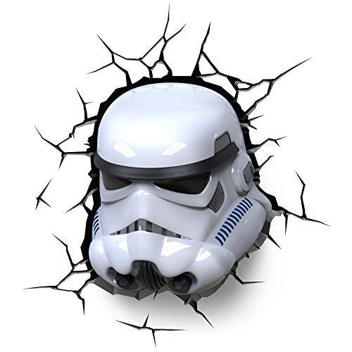3d light fx lampada led 3dlightfx-star wars ep7 storm trooper con timer, multicolore, 26 x 14.5 x 29 cm