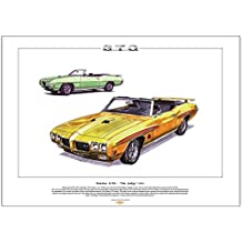 Pontiac GTO Judge (1970) Classic Car Stampa, formato A3