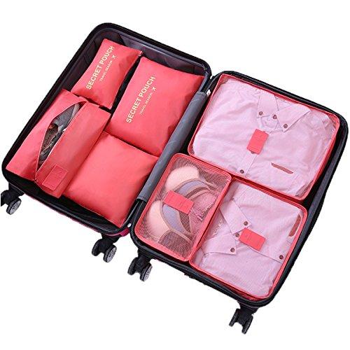WantGor Juego de bolsas organizadoras de viaje, incluye 6piezas