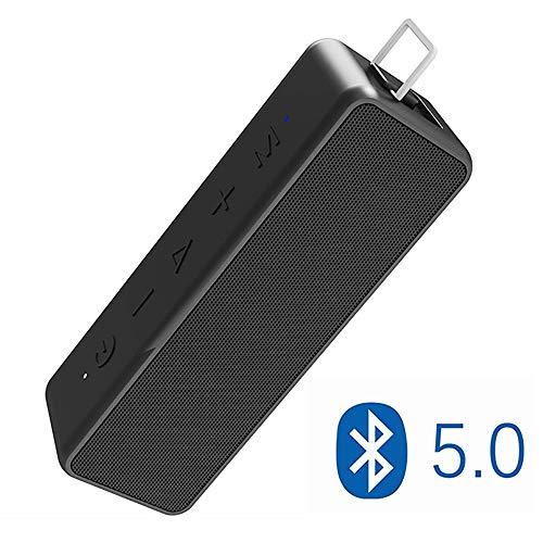 EGOFEI IPX7 wasserdichte Outdoor-Bluetooth-Lautsprecher - Tragbarer drahtloser TWS-Lautsprecher mit Stereo-Sound und sattem Bass für zuhause und draußen