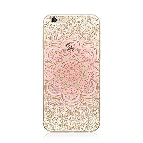 Coque iPhone 7 Housse étui-Case Transparent Liquid Crystal en TPU Silicone Clair,Protection Ultra Mince Premium,Coque Prime pour iPhone 7-Mandala-New-style 19 6