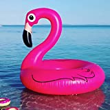 Fenicottero Gonfiabile 120cm - High Quality Flamingo Ring Inflatable - Galleggiante ciambella mare e piscina per party e feste trendy