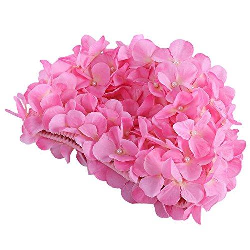 Moresave Damen Blumen Lange Haarpflege Bademütze Hut Frauen Casual Sport Schwimmenkappe