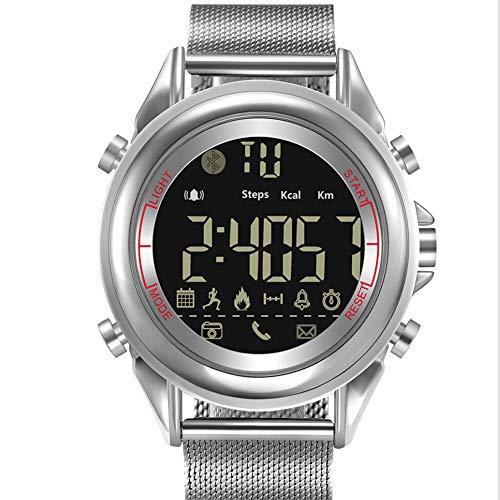 CZLABL Smartwatch, wasserdichte Uhr mit Fitness-Tracker, leuchtende Display-Anrufbenachrichtigung, Bluetooth-Fernbedienung, Schrittzähler, kompatibel mit IOS, Android,Weiß -