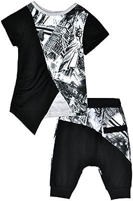 Little Hand-Pijama para Niños Chico Verano Camiseta de manga corta + Harén Pantalones 2 piezas 100% Algodón 1-7
