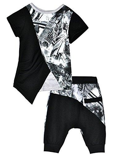 Little Hand Ragazzi Outfit Abbigliamento camicia a manica corta + pantaloni corti 1 2 3 (Abbigliamento bambino)