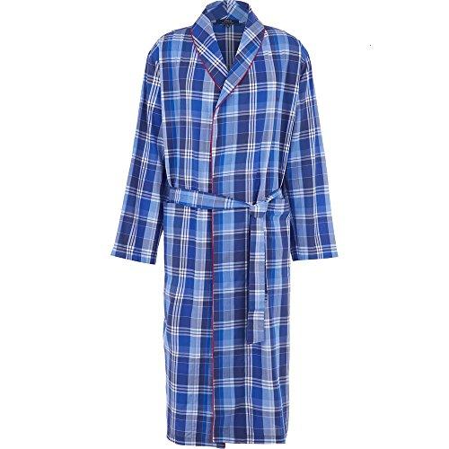 Ralph Lauren Men's Lightweight Cotton Dressing Gown Robe Tampa Plaid
