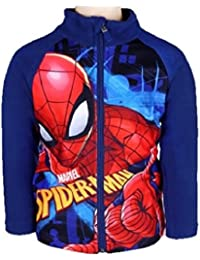 Spiderman Marvel Kids Fleece Zipped Top/Jacket Ages 3 To 8 Available
