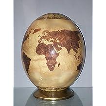 """UOVA DI STRUZZO DECORATE con motivo """"World Globe"""""""