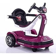 Mini coche de juguete eléctrico para 3–8años de edad los niños–Self & Parent control, color morado