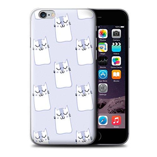 Stuff4 Hülle / Case für Apple iPhone 6 / Süße Katzen Muster / Blau Mode Kollektion Süße Katzen