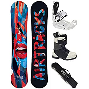 Airtracks Damen Snowboard KOMPLETT Set/Board Daliah Camber + BINDUNG Master W FASTEC + Boots + SB Bag / 145 150 155 / cm