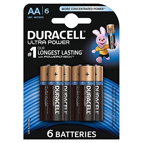 Duracell Ultra Power Typ AA Alkaline Batterien, 6er Pack