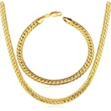 18K Gold Plated Jewelry Set (Necklace and bracelet)