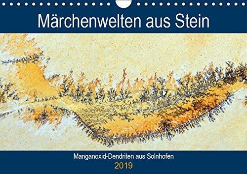 Märchenwelten aus Stein - Manganoxid-Dendriten aus Solnhofen (Wandkalender 2019 DIN A4 quer): Dendriten auf dem Solnhofener Plattenkalk (Geburtstagskalender, 14 Seiten ) (CALVENDO Kunst)