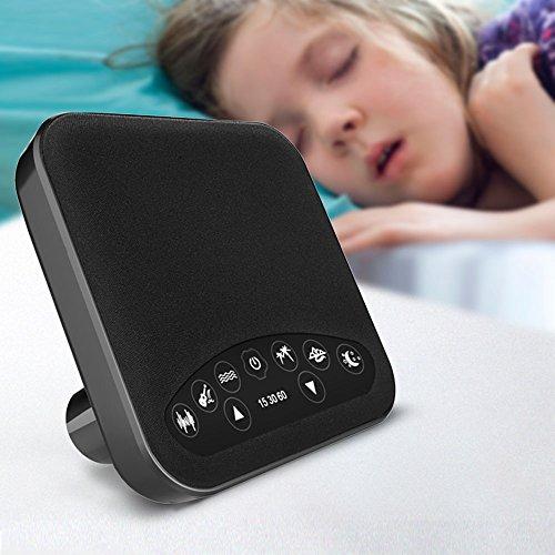 Schlaf White Noise Machine, LIVEBOX Klingt Therapie für Kinder, 6 Beruhigende natürliche Sounds Therapie für Baby, Büro, Entspannung, 3 Timer-Einstellungen, USB Powered, Schwarz(Adapter nicht enthalt) (Sleep Machine Sound)