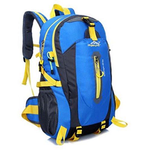 All'aperto alpinismo Borsa nylon impermeabile borsa tracolla casual zaino da viaggio , orange Blue