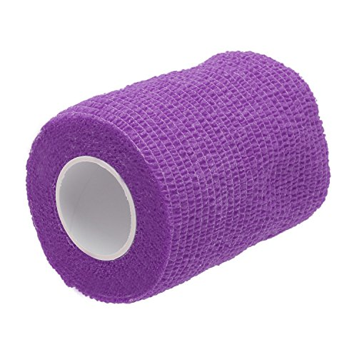 1-roll-45ma8cm-non-woven-self-adhesive-elastic-bandage-sports-stretch-tape-wrap-roll-purple