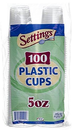 Settings Lot de 300 gobelets jetables en plastique transparent 137 g