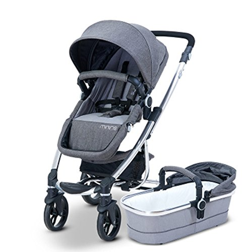 HIGH LANDSCAPE 2 IN 1 BABY STROLLER BABY CARRIAGE (PUSHCHAIR + SLEEPING BASKET) TWO-WAY AVAILABLE  SUSPENSION  FOLDABLE 4-WHEEL (ORANGE)