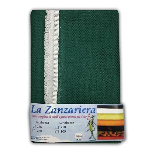 tex family Tenda Rete ZANZARIERA da Esterno Giardino Balcone Unito Verde CM.150X250