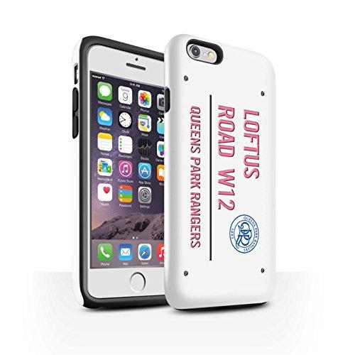 Offiziell Queens Park Rangers FC Hülle / Glanz Harten Stoßfest Case für Apple iPhone 6S / Pack 8pcs Muster / QPR Loftus Road Zeichen Kollektion Weiß/Rosa