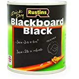 Rustins Blackboard - Vernice per lavagna (125/250/500 ml, 1/2,5 litri), colore: Nero 250ML