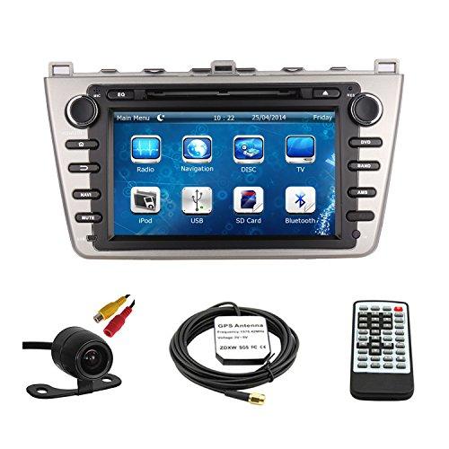 tltek 20,3cm Touchscreen Auto GPS Navigation System für Mazda 62009–2013DVD-Player + Backup Kamera + EU Karte (Jbl-premium-auto-lautsprecher)