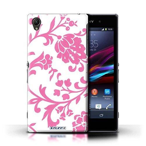 Kobalt® Imprimé Etui / Coque pour Sony Xperia Z1 / Fleurs Bleue conception / Série Motif floral Fleurs Rose