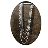 AieniD Schmuck Kette Silber Herren 925 Kettenanhänger Herren Buddha Perlen Kette Halskette Größe:50CMx0.15CM