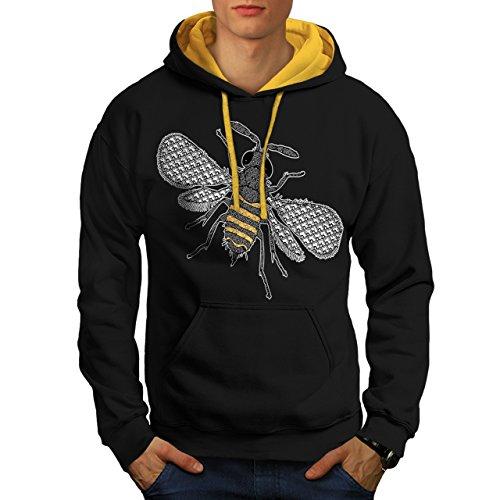 insecte-monde-art-plusieurs-abeille-homme-nouveau-noir-avec-capuche-dore-l-capuchon-contraste-wellco