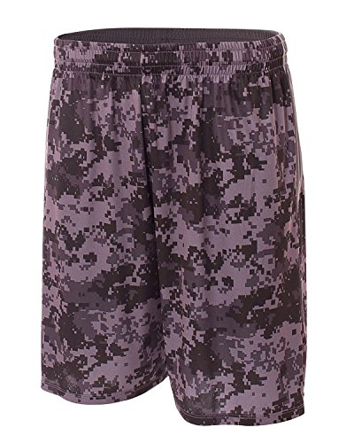A4 10 Printed Camo Performance Short (Graphite) (3X) by A4 (A4 Camo Shorts)