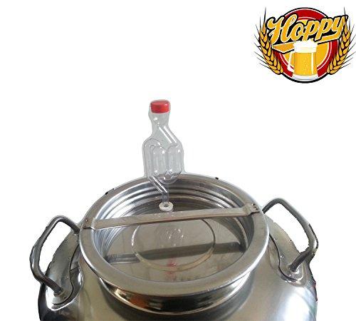 Hoppy Fermentatore completo da 50 Litri in Acciaio Inox Ermetico al 100/% ideale per Birra Vino o Altro