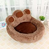 WITREE-Z Pet products, cute pets, plush bear claws, dog house, pet nest, Teddy dog dog bed pet pie,M (60*70*30),brown