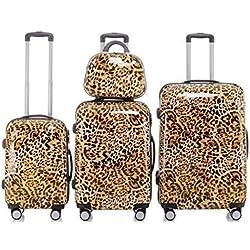Leopard - Trolley Maleta, Opcional: Set 4 piezas, carro XL, L, M, caso de la belleza - Más Colores, Juego