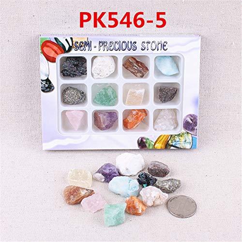 ChaRLes AU Natürliche Edelsteine ??Steine ??Variety Collection Crystals Kit Mineralische geologische Unterrichtsmaterialien - Nr. 5