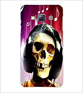 PrintDhaba Skull D-2958 Back Case Cover for SAMSUNG GALAXY A3 (Multi-Coloured)