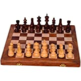 "[Sponsored]Purpledip Chess Set With Finely Carved Heavy-set Wooden Pieces And Wooden Board In Large Size ""Royal Splendor"": Strategy Board Game With Universal Rules; Loved Alike By Kids And Adults Of All Ages (10405)"
