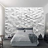 YUANLINGWEI 3D Vision Unregelmäßige Benutzerdefinierte Moderne Wandbild Abstrakte Geometrische Figur Wall Wallpaper,150cm (H) X 230cm (W)