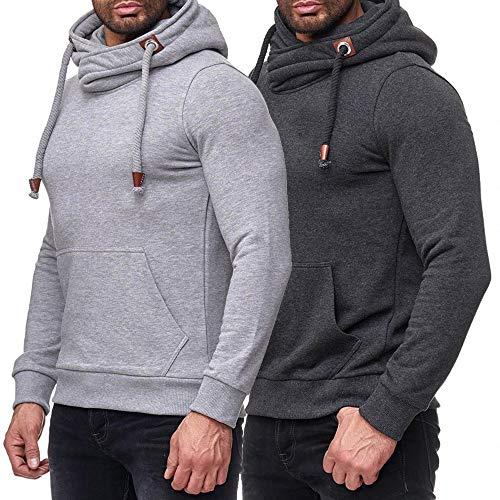 Sweat-Shirt à Capuche Hommes Blouses Pull, QinMM Casual Sport Pouches Mode Ville Automne Hiver Football T-Shirt à Manches Longues Décontractée Chemise Tops