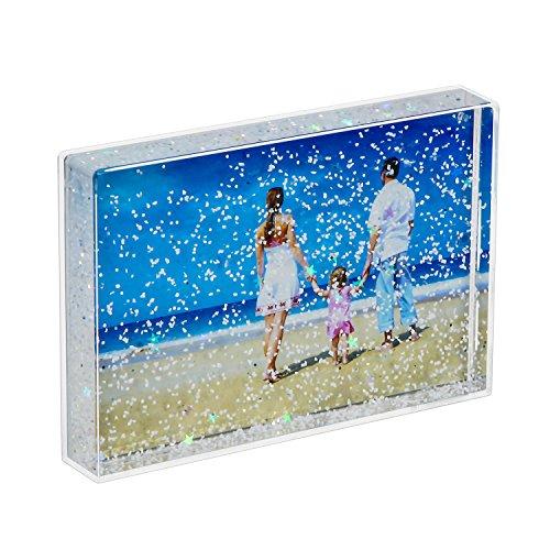 Niubee cornice acrilico porta foto liquida sparkle ottimo regalo bianco