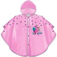PERLETTI Mantellina Pioggia Bambina Unicorno Rosa - Poncho Antipioggia Baby Unicorn con Cappuccio e Bottoni - Kway Bimba…